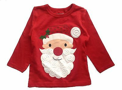 Next Baby Girl`s or Boys Christmas Long Sleeve Red Top Size 1.5-2yrs