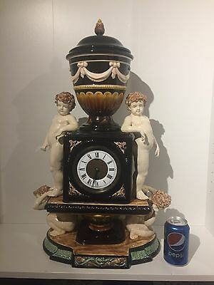 Huge majolica Clock