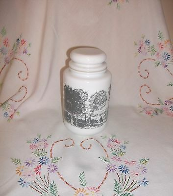 Arcopal Vintage French Sorage Jar Country Scenes