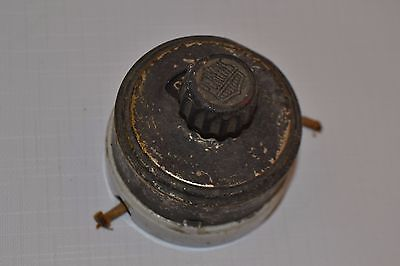 Vintage Perkins Porcelain Rotary Light Switch On Off Flush Mount Steampunk