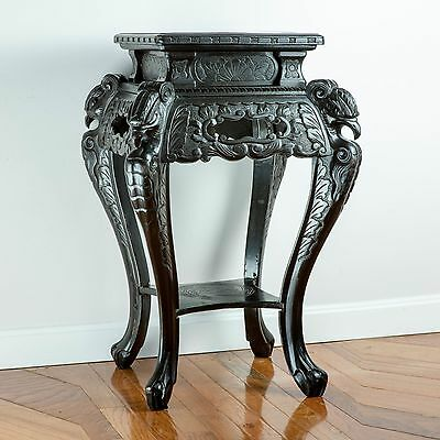 Antique Vintage Chinese Hand-Carved Rosewood Table ca. 1900-1940 — Unique!