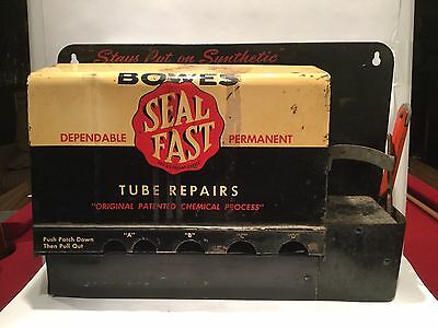 VINTAGE GAS STATION Bowes Seal Fast Tire Repair Kit Wall Mount