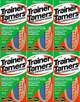 Odor-Eaters Trainer Tamers Super Strength Insoles 1 Pair x 6 Packs