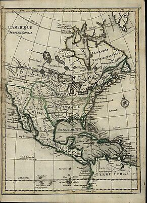 North America mythical River of West c.1748 fine Le Rouge antique map