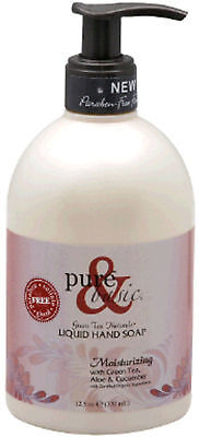 Natural Liquid Hand Soap, Pure & Basic, 12 oz Moisturizing