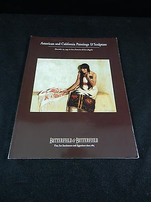 """Butterfield Auction Catalog """"american & California Paintings & Sculptures"""""""