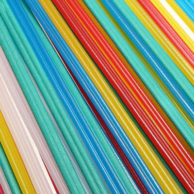 50x Blue/Yellow/White/Red & PVC Green Plastic Welding Rods Welder Sticks 5 Color