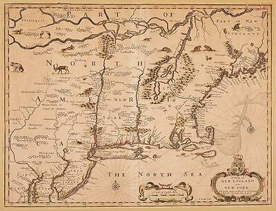 [MAP] [SPEED, JOHN]. A Map of New England and New York. London: Basse... Lot 199
