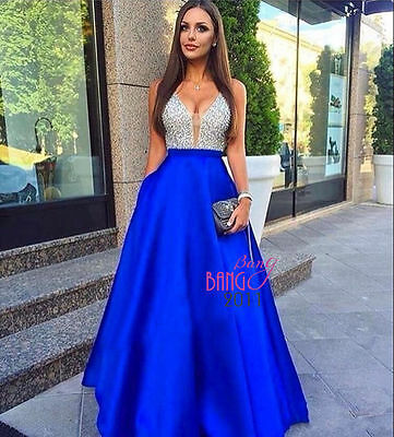 Long Formal Bridesmaid Dress Ball Gown Evening Party Cocktail Prom Dress custom