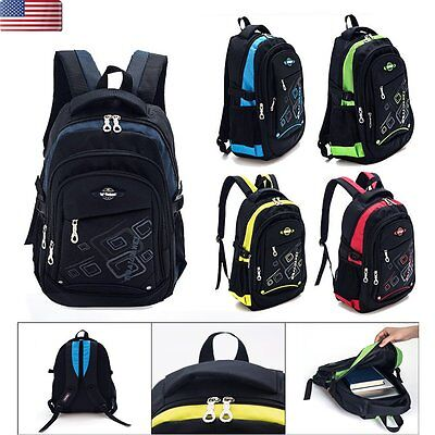 Kids Children Waterproof Backpack School Bag Girls Boys Bookbag Rucksack Satchel