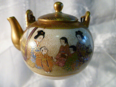 Vintage or Antique Japanese Satsuma Miniature Small Teapot tea pot