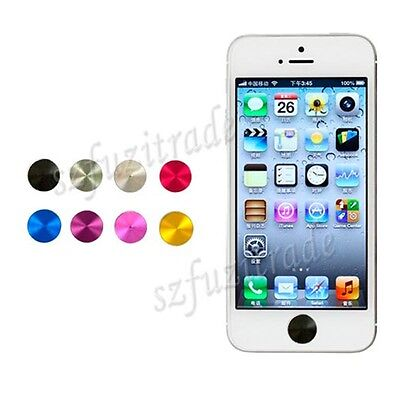 CD Aluminium Metal Home Button Sticker For iPhone 4S 5 5c iPod iPad Mini BJ