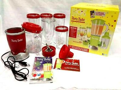 Magic Bullet Red Party Bullet Drink Making System Red 18 pc Set Clearance sale