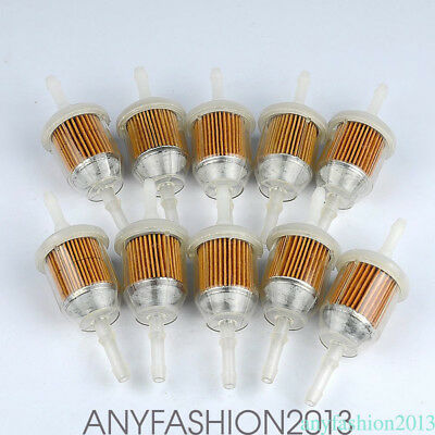 """10pcs Universal Inline Gas/Fuel Filter 1/4"""" or 5/16"""" Motorcycle Small Engine HOT"""