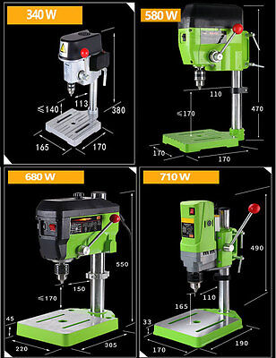 Mini Drill Press Bench 340W 580W 680W 710W Cross Worktable Flat Drill Press Vise