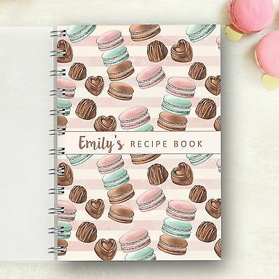 Personalised Recipe Macaroons & Chocolates Foodie Cooks Lovely Gift Recipe Book