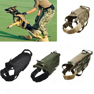 Tactical Police Dog K9 Military US Vest Service Canine Molle Harness XS S M L XL