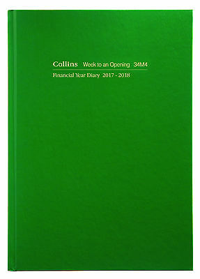 Diary Collins Green A4 Week to View Financial Year 2017-2018 34M4 30x23cm
