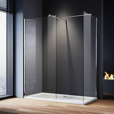 Large Frameless Walk In Shower Enclosures and Tray Screen Cubicle Glass Panel