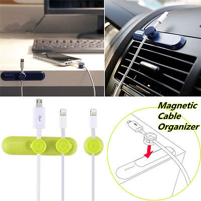 Nevol Pea Pod Magnetic Desktop Cable Clips Cord Wire Management Organizer Holder