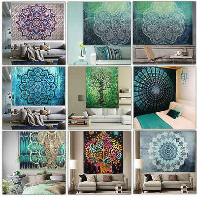 Indian Decor Mandala Tapestry Wall Hanging Hippie Throw Bohemian House Bedspread