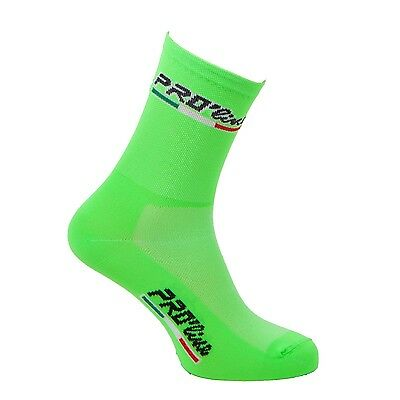 Calzini Ciclismo Proline Verde All Green Cycling Socks 1 Paio One Size New