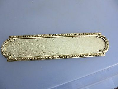 Solid Brass Finger Plate Push Door Handle Antique Adam STYLE Old REPRO Husks