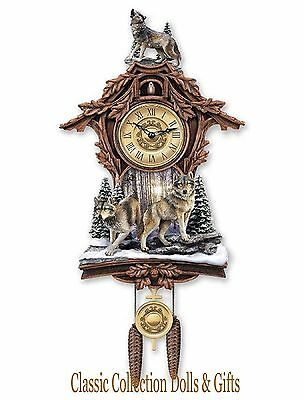 Bradford Exchange - 'silent Encounter'  Sculpted Cuckoo Clock -New-In Stock Now!