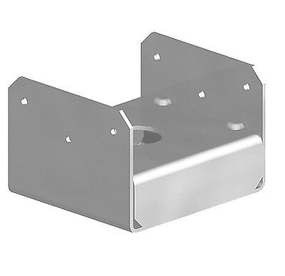 """Fencemate Post Anchor Bolt Down Plate Galvanised Post Support - 100mm 4"""" Posts"""