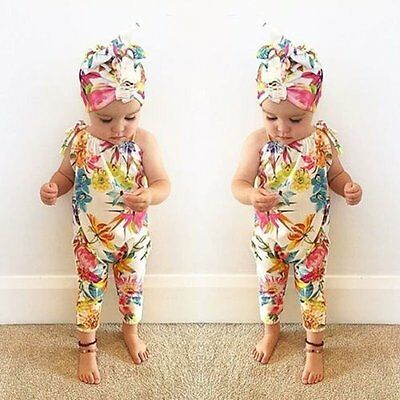 Newborn Baby Girl Bodysuit Floral Romper Jumpsuit Outfits Sunsuit Summer Clothes