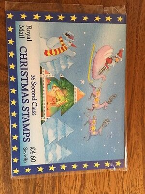 GB Christmas Pack of 36 X 13P second class stamps UNOPENED MINT CONDITION