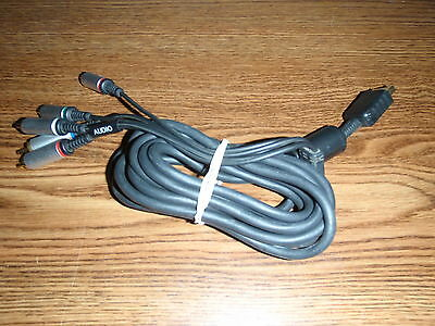 Original Sony Playstation 2 3 PS2 PS3 AV HDTV Component Cable RARE OEM