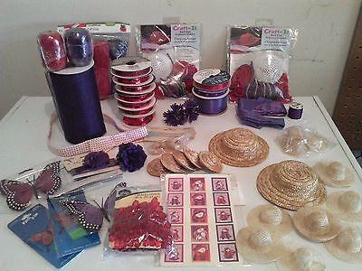 Red Hat Society Lot Crafts Crafting Items
