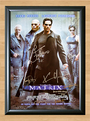 The Matrix Keanu Reeves Cast Signed Autographed A4 Photo Poster Memorabilia dvd