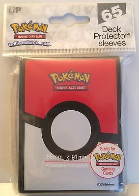 Ultra Pro Pokeball Deck Protector Trading Card Sleeves - 65 Pack - Pokemon Go