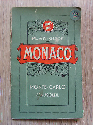 Ancien plan guide de Monaco Monte Carlo Guides Pol 32 pages et plans