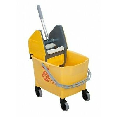 Rubbermaid Combo Bravo 25L Cleaning Bucket and Kentucky Mop Wringer - Yellow