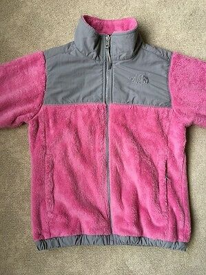 The North Face Girls Pink Fleece Zip Up Size M (10-12)