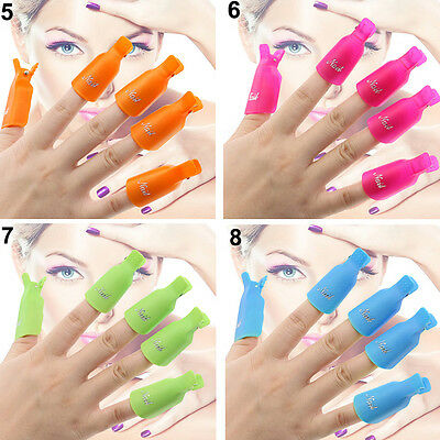 Multiple Style Plastic Nail Art Soak Off Clip Cap UV Gel Polish Remover WrapTool