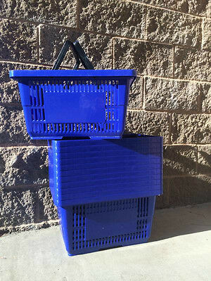 "*** Sale ***shopping Baskets ""jumbo Size"" Set Of 12  Blue"