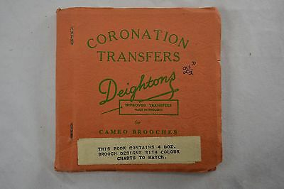 VINTAGE 1950s DEIGHTONS transfers booklet sewing embroidery CORONATION CAMEOS
