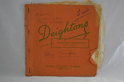VINTAGE 1950s DEIGHTONS transfers booklet sewing embroidery FLOWERS ANIMALS