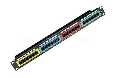 Astrotek CAT6 UTP Patch Panel 24 Port PCB Type 110 IDC Type with Color Frame in