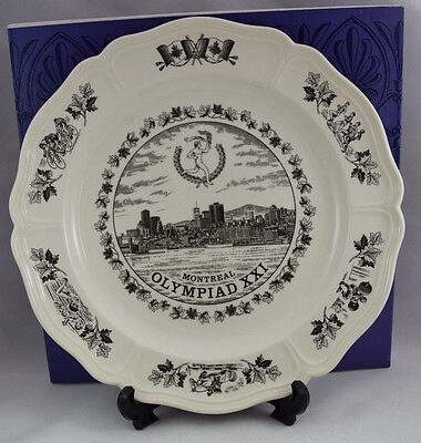 Wedgwood Montreal Olympiad XXI 1976 Commemorative Plate - Boxed with leaflet