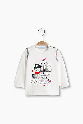 NEW Esprit Kids Pirate print top, 100% cotton OFF WHITE