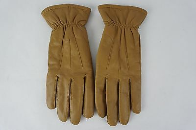 Women's Thinsulate 40 gram Brown Winter Leather Gloves Size Large
