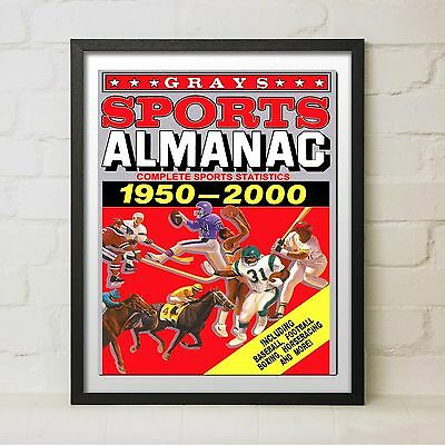 Framed Back to the Future 2 Grays Sports Almanac Movie Prop McFly Delorean Decor