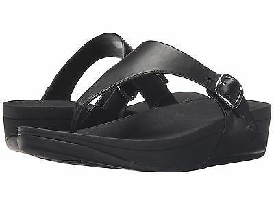 25481a00dd0198 Women FitFlop The Skinny Flip Flop Sandal B28-090 Black 100% Original Brand  New