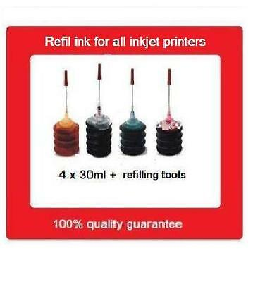 A Set Of Refill Kits for HP905 & HP905XL Black,Cyan, Yellow,Magenta Cartridges