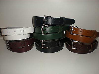 Real Leather Ladies Belts (20mm wide 7 colours) TR2